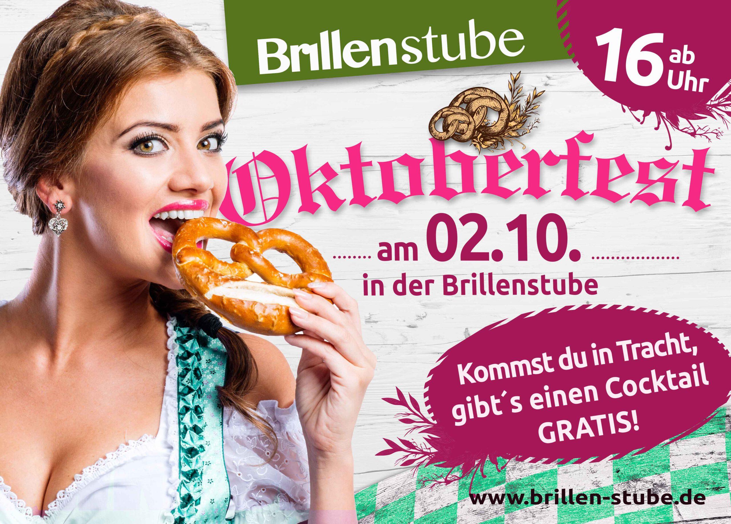 Oktoberfest in Ihrer Brillenstube am 2.Oktober 2021